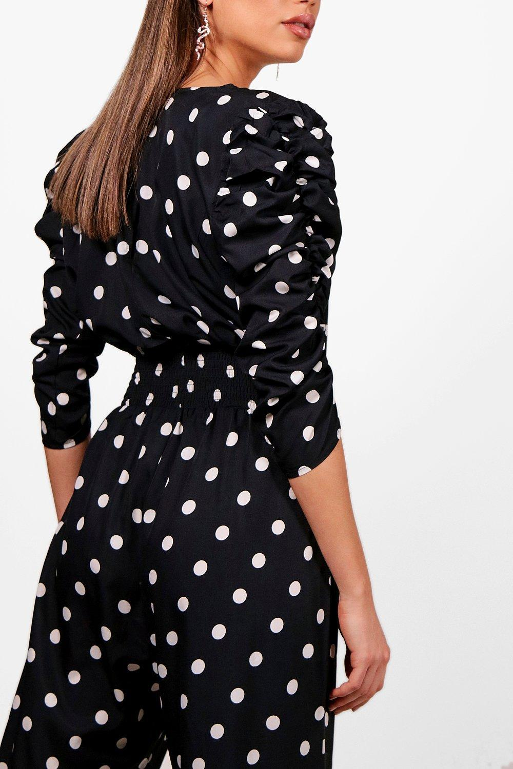 00176ab978 Gallery. Previously sold at  Boohoo · Women s Polka Dot Jumpsuits ...