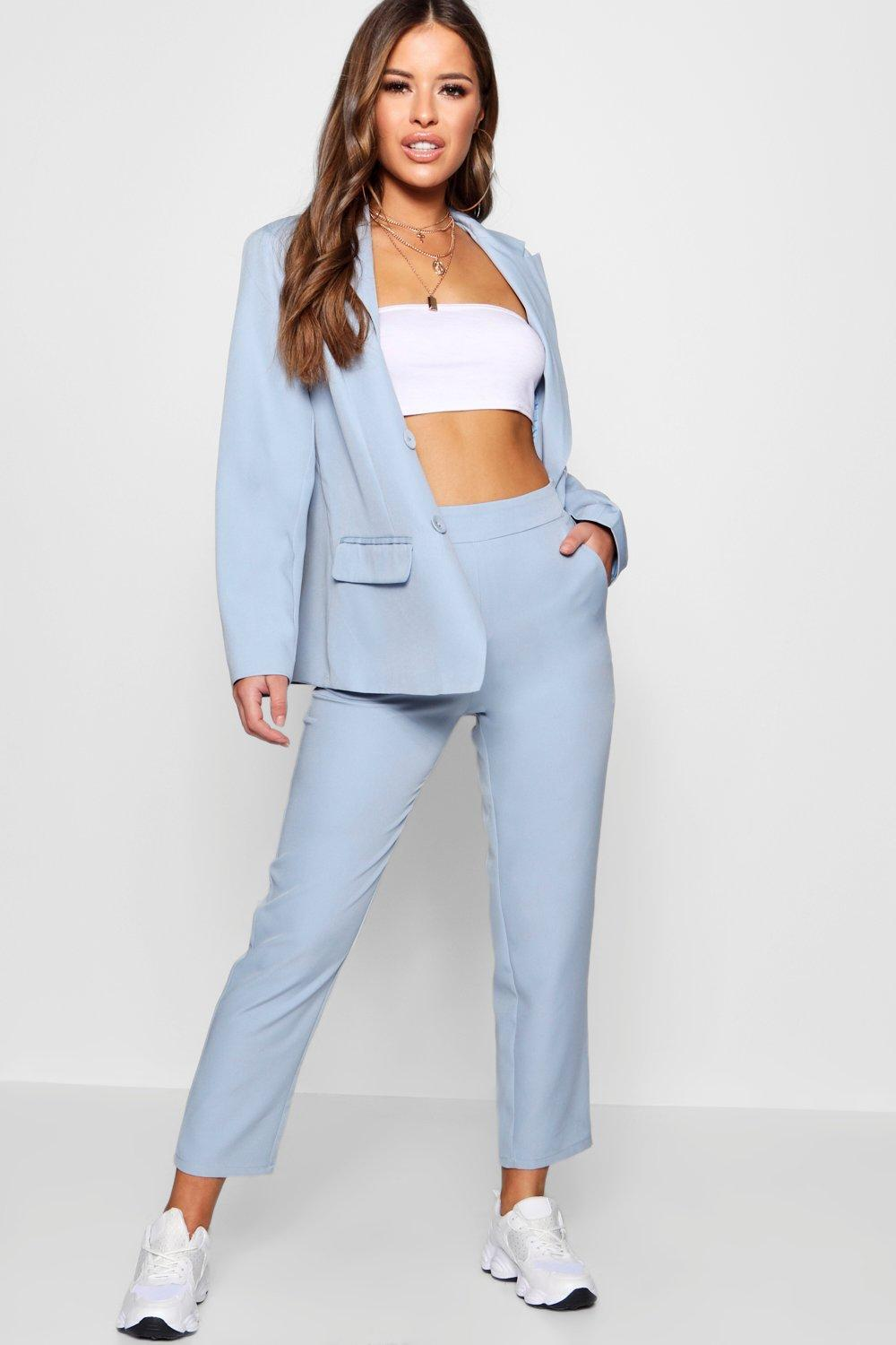 Cost Boohoo Petite Pastel Check High Waisted Woven Trousers Cheap Sale 2018 Newest For Sale Online Store Online 9nSZYbO