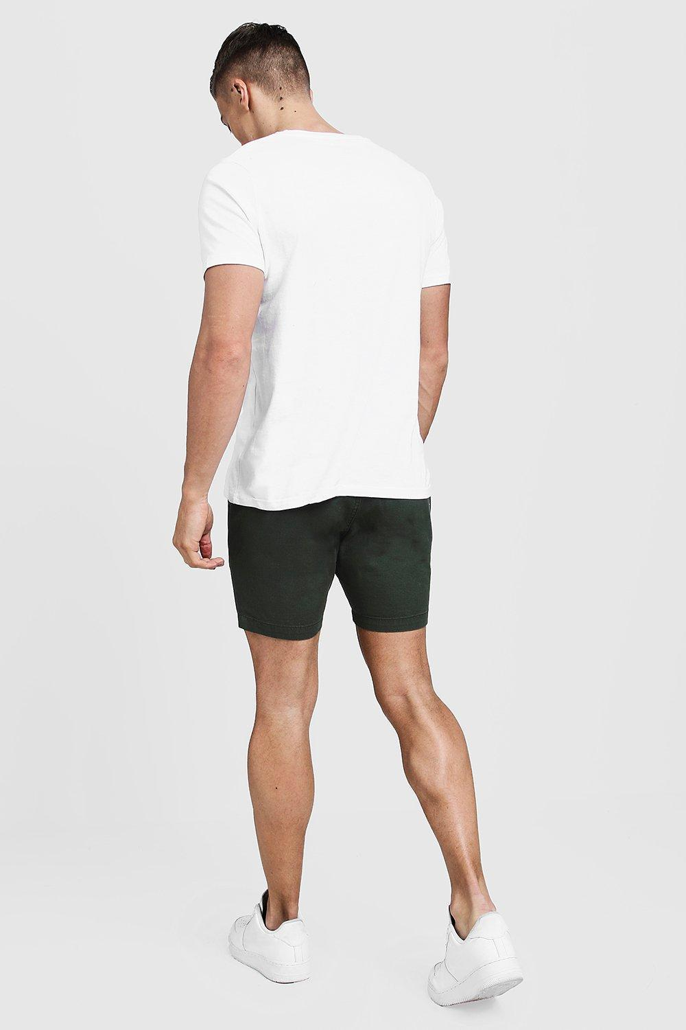 a90f3f630346 Boohoo - Black Slim Fit Rugby Chino Shorts for Men - Lyst. View fullscreen
