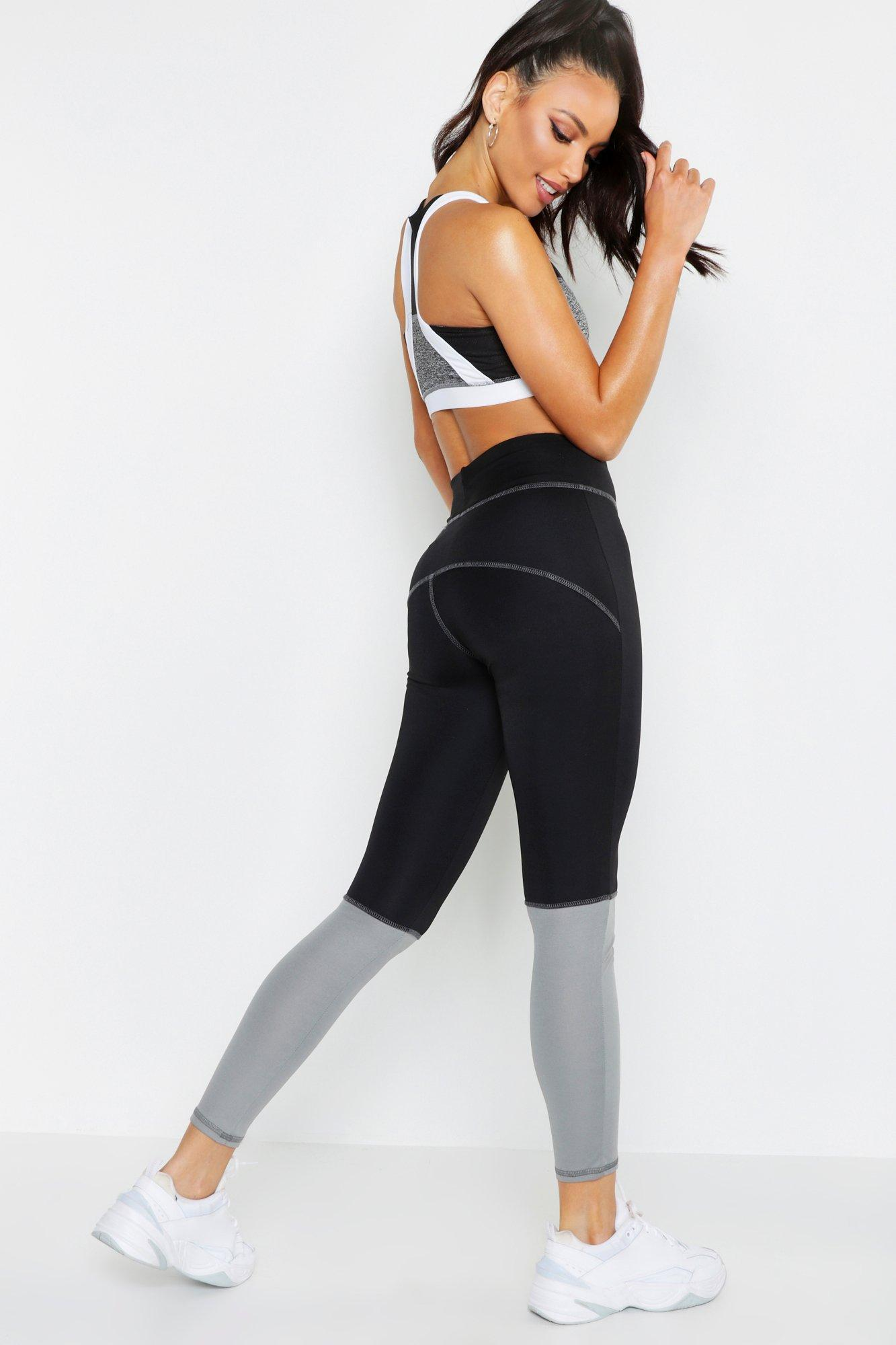 d51ca584a3923 Boohoo - Multicolor Fit Premium Geraffte Yoga Leggings - Lyst. View  fullscreen