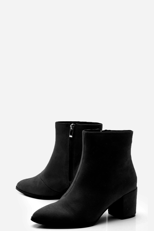 939fe7cd2826 Boohoo - Black Wide Fit Block Heel Sock Boots - Lyst. View fullscreen