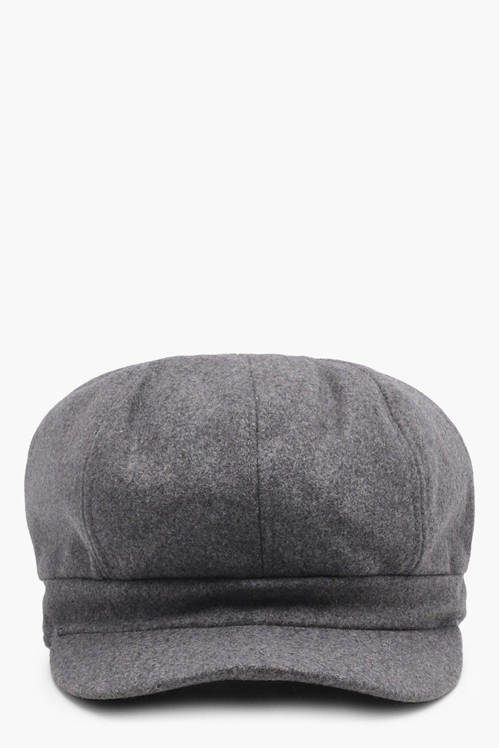 173bbc51989 Lyst - Boohoo Olivia Brushed Bakerboy Hat in Gray