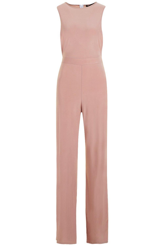 2c1785a0f274 Boohoo - Pink Side Boob Slinky Jumpsuit - Lyst. View fullscreen