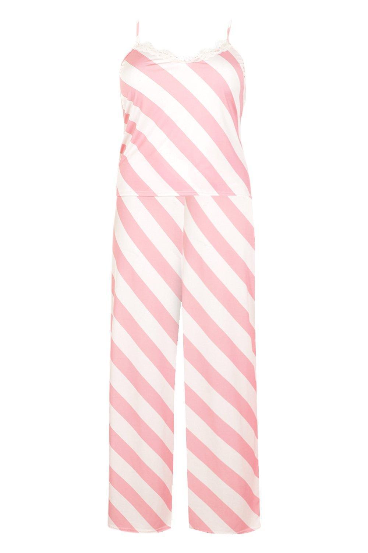 2ae429e28df6 Boohoo - Pink Plus Gemma Collins Lace Trim Cami Pj Set - Lyst. View  fullscreen
