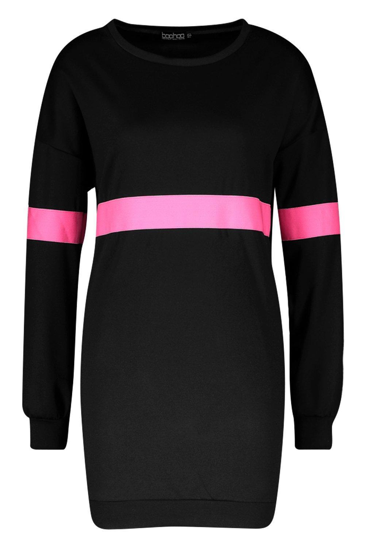 b4463870ea6 Boohoo - Multicolor Neon Stripe Sweater Dress - Lyst. View fullscreen