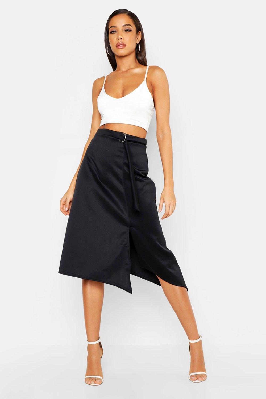50209dcf7f Boohoo. Women's D-ring Midi Split Skirt