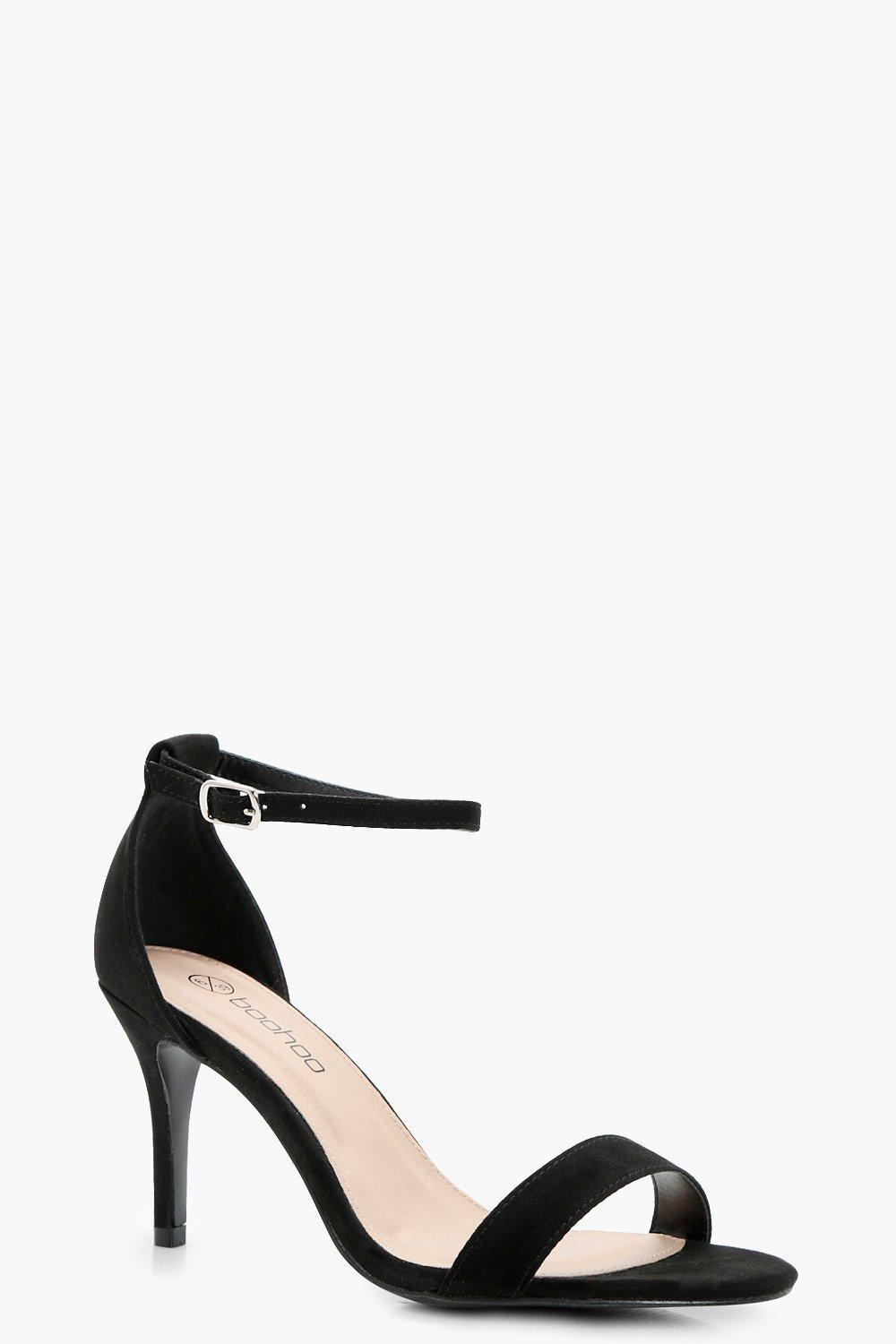 ad6005ff0227 Lyst - Boohoo Tia Wide Fit Low Heel Two Part in Black