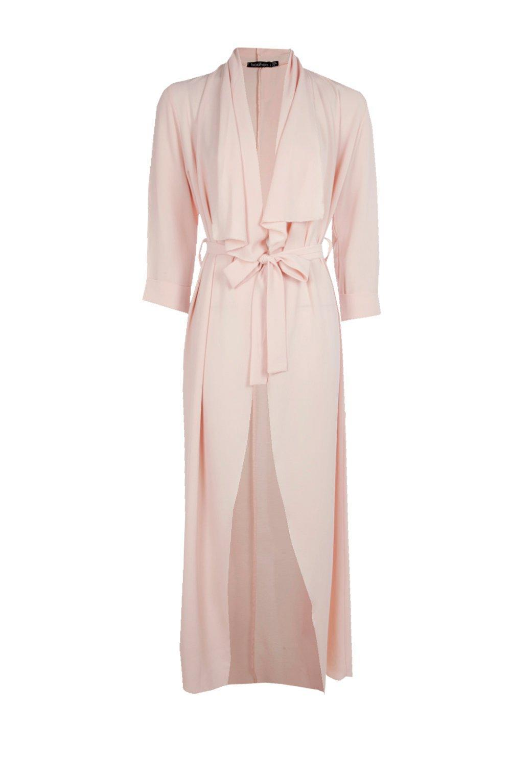 ccc7a7058c178 Boohoo Kaley Maxi Waterfall Duster in Pink - Lyst