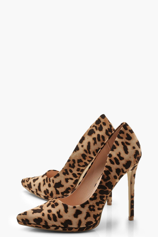dbc5b40db5f Boohoo - Brown Platform Pointed Leopard Court Shoes - Lyst. View fullscreen