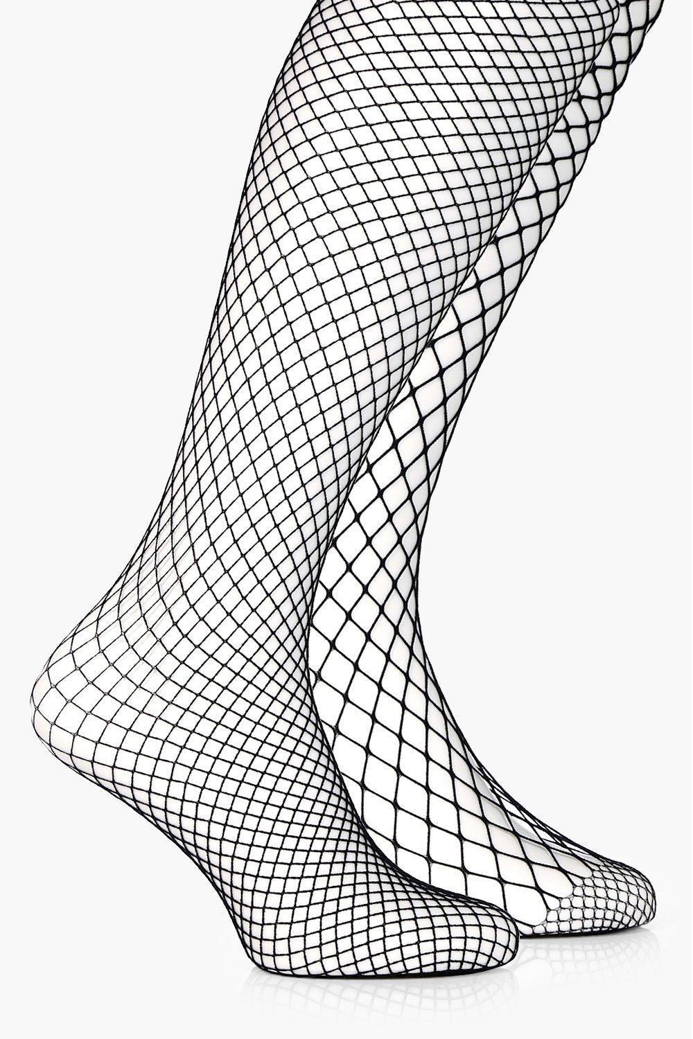 5672f7a007c7f Boohoo Mixed Scale Fishnet Tights 2 Pack in Black - Lyst