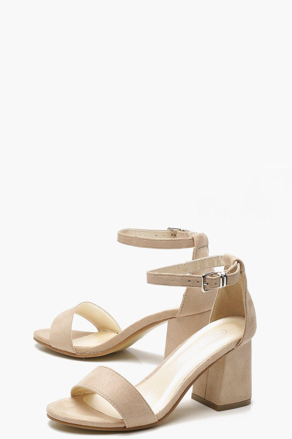 493fbd630a4a Lyst - Boohoo Rachel Low Block Heel Two Part