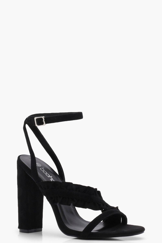 Edie Metallic Elastic Block Heel Sandals fsVnF