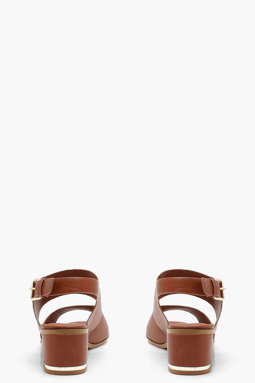 Harriet Peeptoe Block Heel Sandals 4LsWg9PFTK