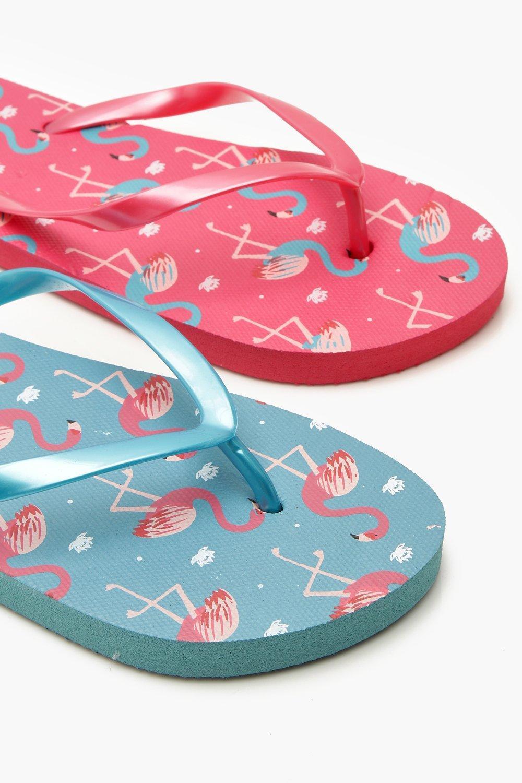 6d44ba7fa ... Flamingo Print 2 Pack Flip Flops - Lyst. View fullscreen