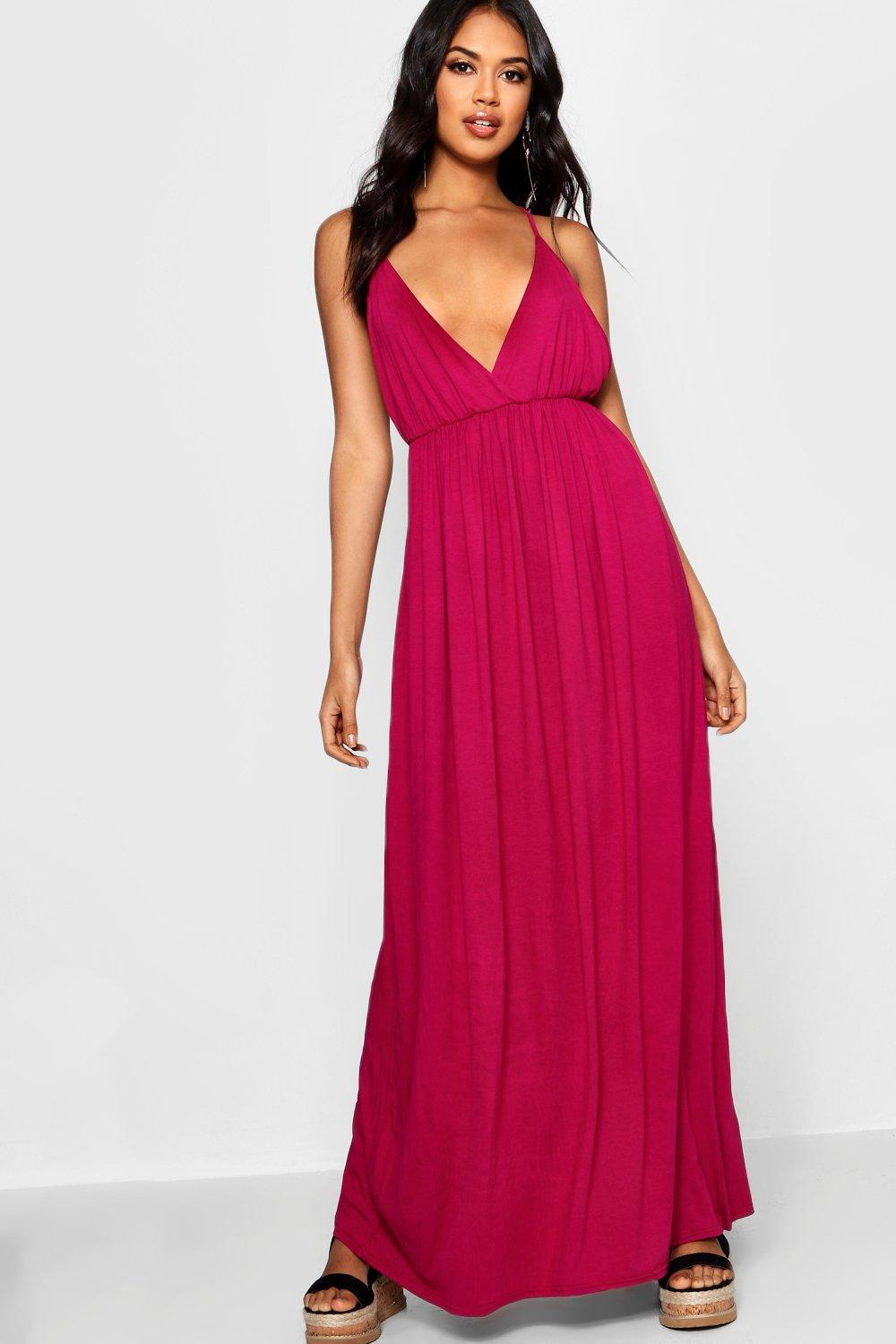 Supply Online Outlet Inexpensive Boohoo Plunge Floor Sweeping Maxi Dress Sale 2s1LhxCX