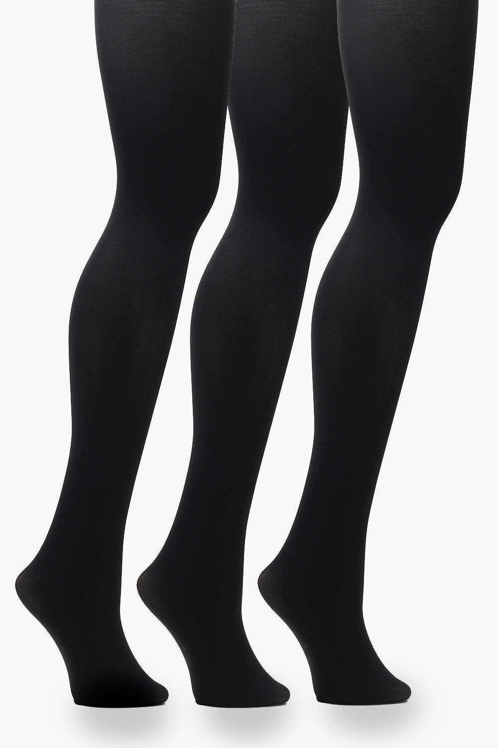 9a41fc3c7 Lyst - Boohoo Plus 60 Denier 3 Pack Tights in Black