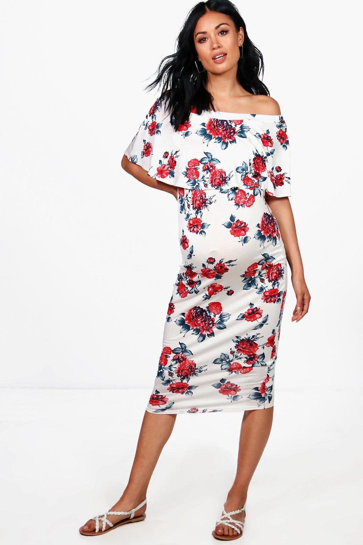 7291391fddf6 Boohoo One Shoulder Floral Midi Dress - raveitsafe