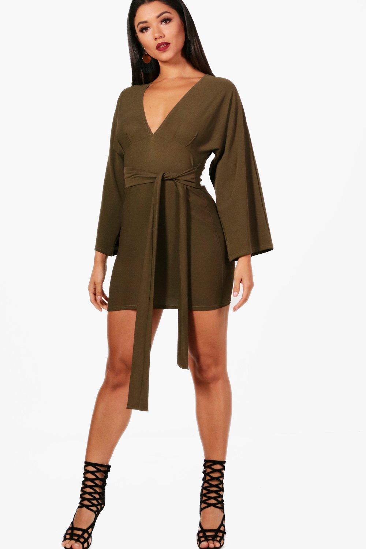 ca527defe046 Boohoo. Women s Kimono Sleeve Bodycon Dress