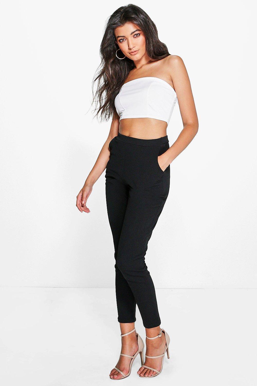 45af14972e7ba Boohoo. Women's Black Basic Crepe Super Stretch Skinny Trousers