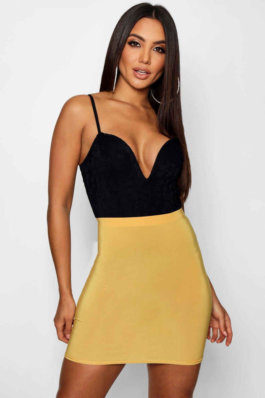 329e734738 Boohoo - Multicolor Slinky Basic Mini Skirt - Lyst