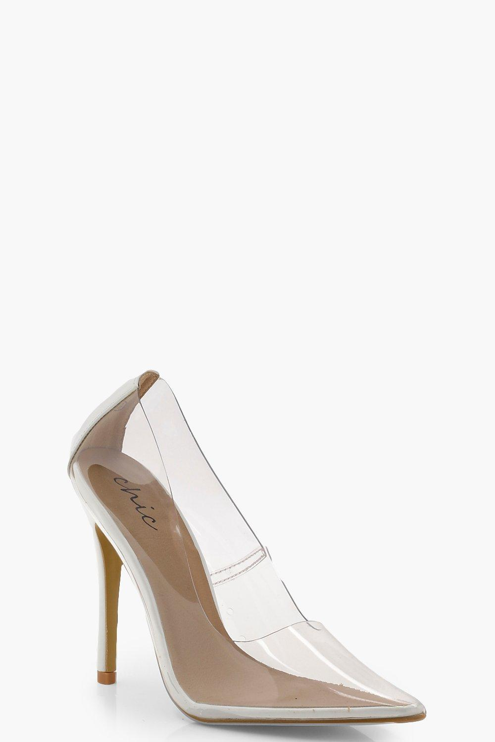 7ae35b198a9c Women s White Clear Court Shoes. See more Boohoo Heels.