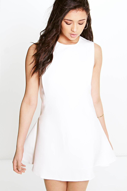 ef6f0c67bfa Lyst - Boohoo Boutique Sia Sporty Textured Fit   Flare Dress in Orange