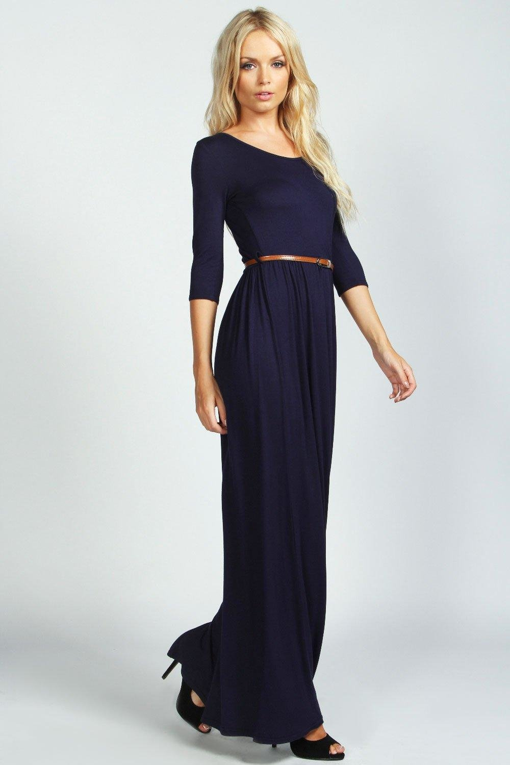 Boohoo Sophia Scoop Neck Elasticated Waist Maxi Dress in ...
