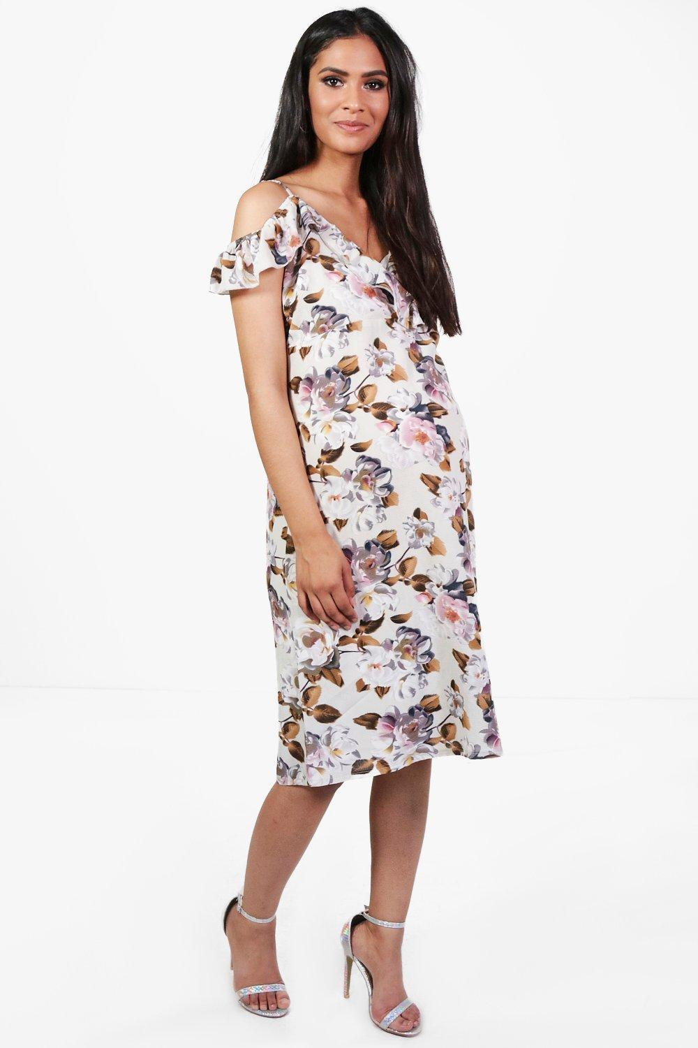 Patterned Dresses for Pregnant Women Inspired by Sandy Leah