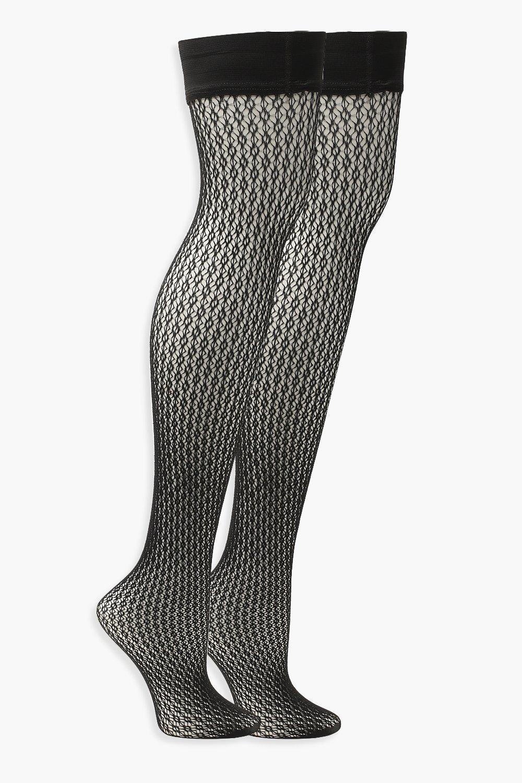 208eb4ab55b21 Boohoo - Black Diamond Fishnet Hold Up Tights - Lyst. View fullscreen