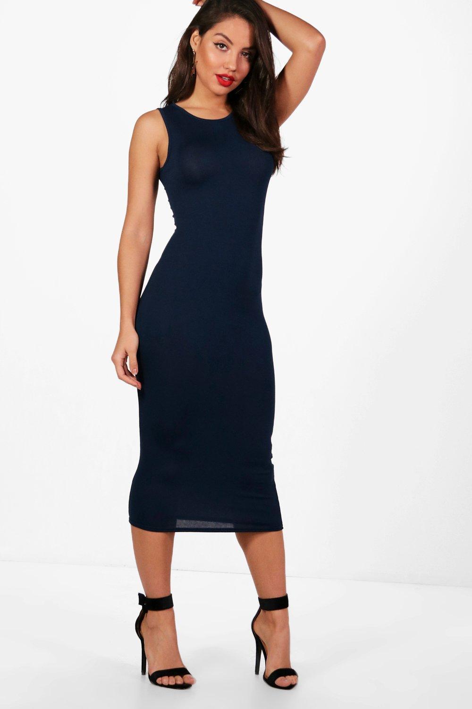 f7bc8fb5bc Lyst - Boohoo Sleeveless Midi Dress in Blue