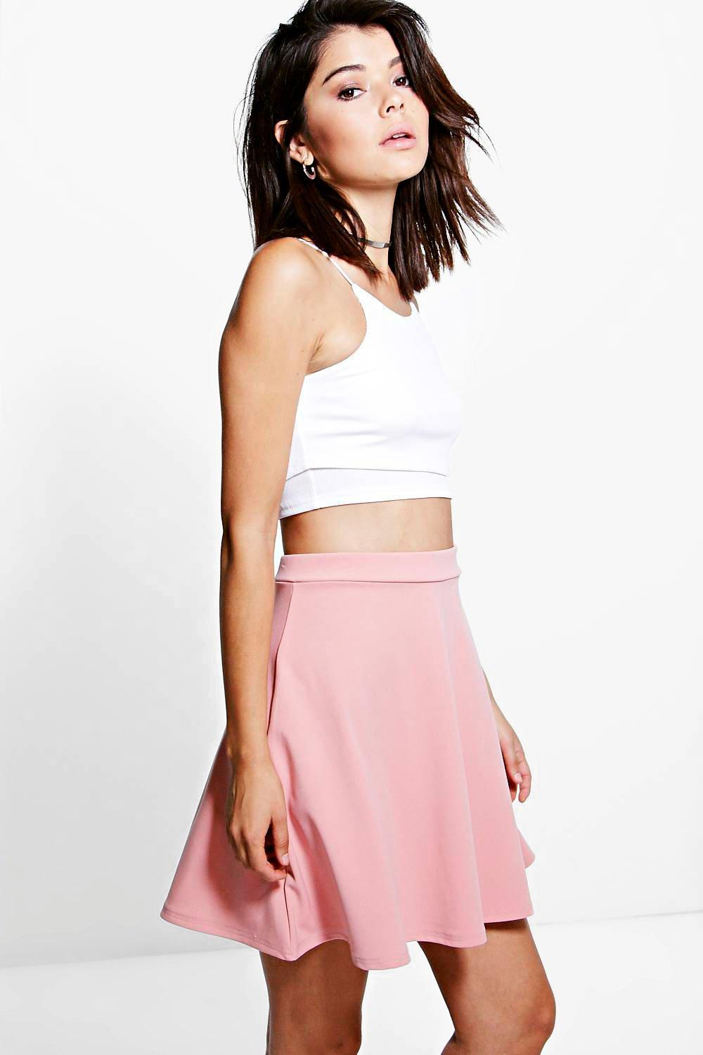 1756fd2c0cb42 Lyst - Boohoo Roseanna Fit And Flare Skater Skirt in Black