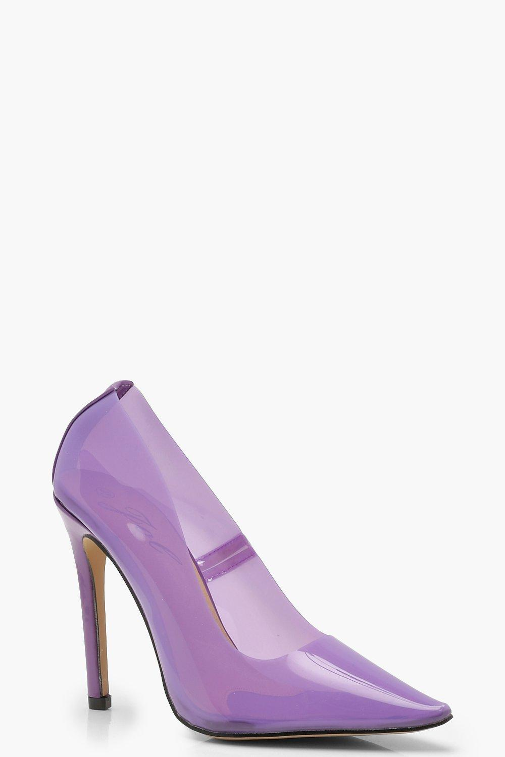 4c5ef8b2686 Boohoo Clear Court Shoes in Purple - Lyst