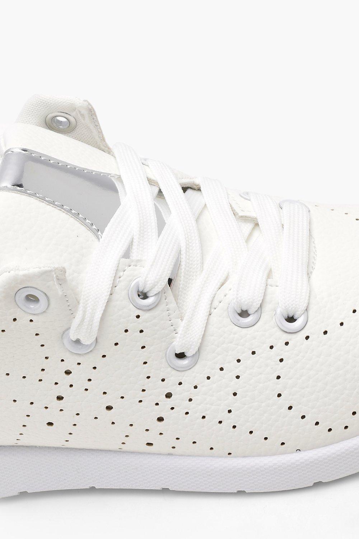 Excelente Leather Effect Lace Up Sports Trainers Línea Barata Venta En Línea Muchos Tipos De Precio Barato Oficial Para La Venta jOoIR5