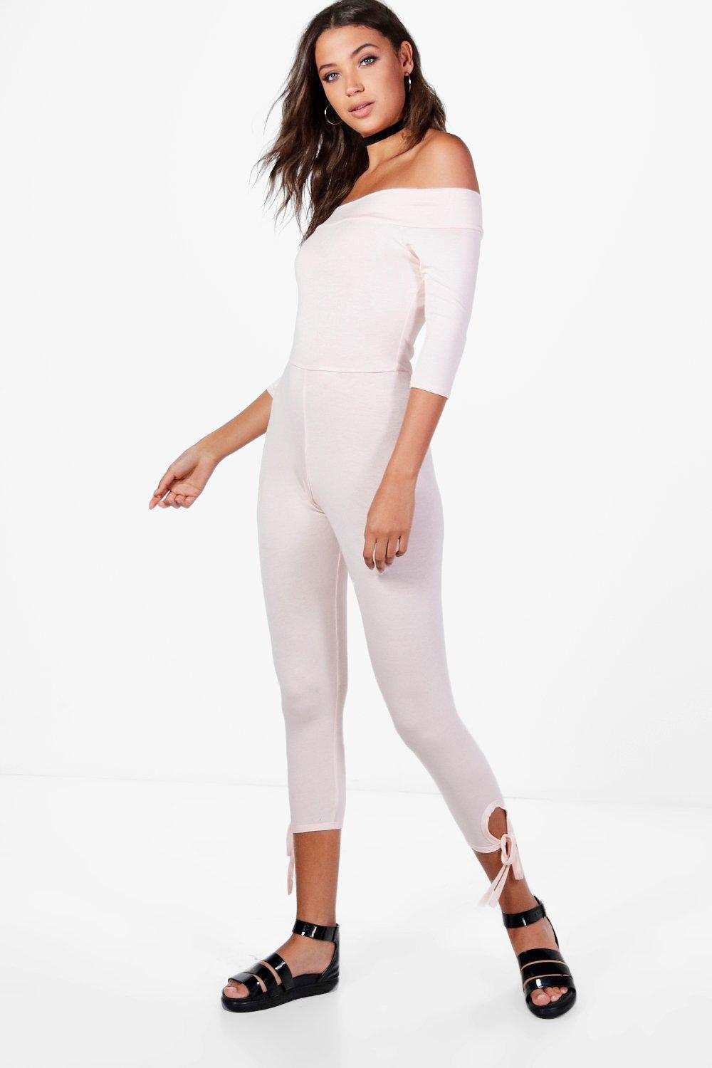 dd1748b027925e Boohoo Tall Zoe Off Shoulder Lounge Jumpsuit in Pink - Lyst
