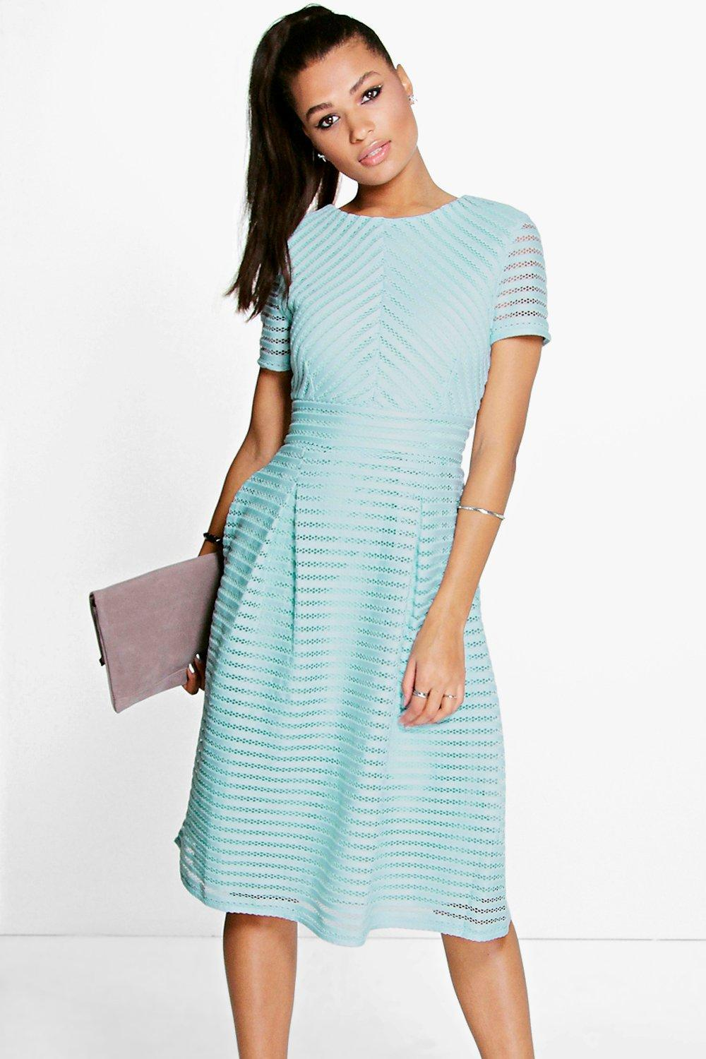 Lyst - Boohoo Boutique Full Skirted Prom Midi Dress in Blue