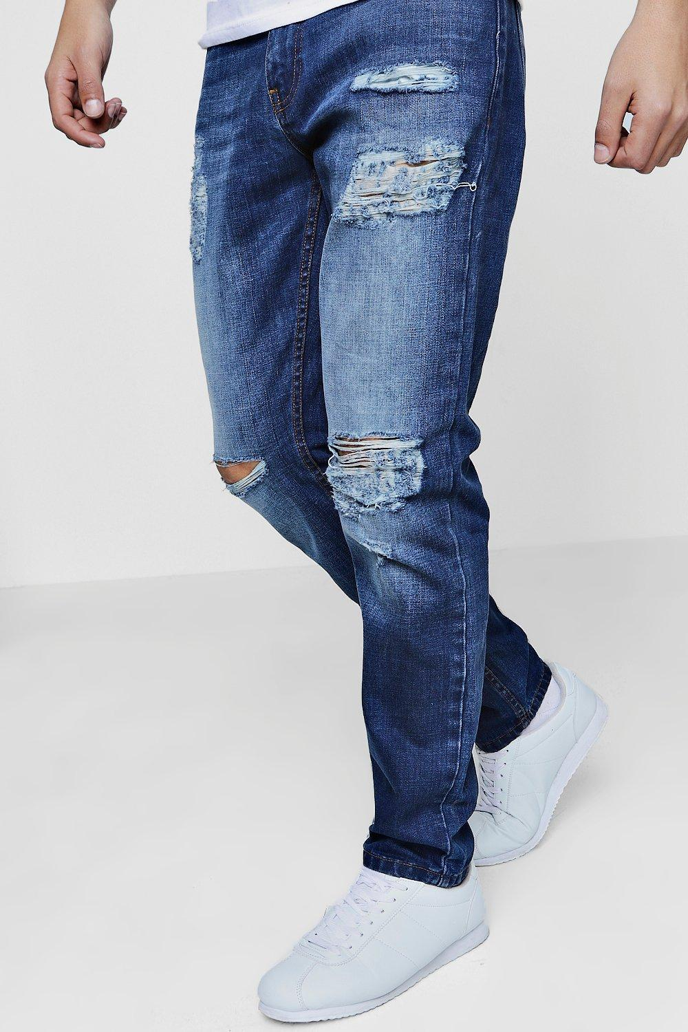 Ripped jeans are one of the hottest and most versatile trends in men's jeans. More and more, guys are discovering that ripped jeans can help them elevate their style. By adding the edgy, urban look that ripped jeans for men provide, guys can easily breathe new life into their entire wardrobe.
