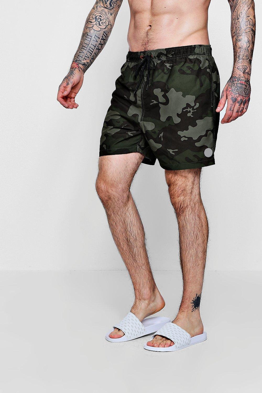 52725267e4470 Boohoo Camo Print Swim Shorts for Men - Lyst