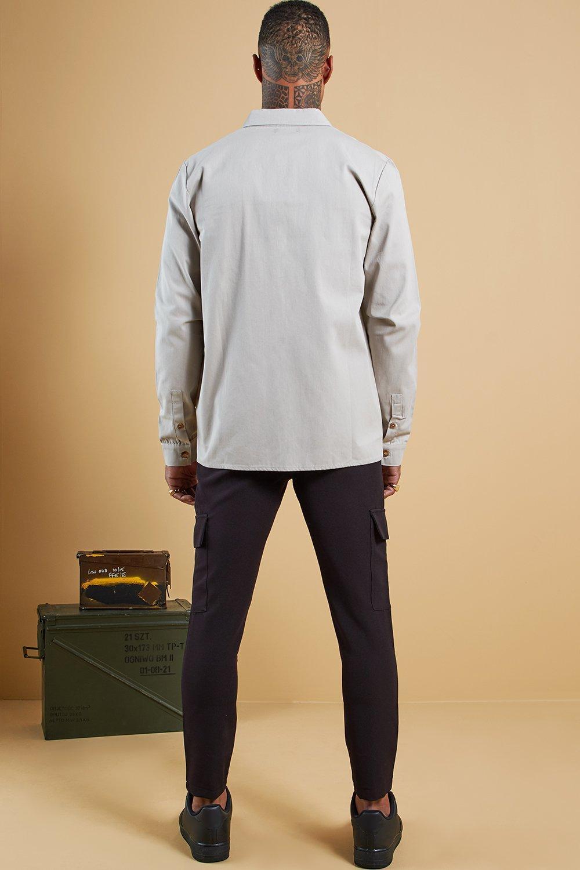 0addb6ab7b04 BoohooMAN - Black Plain Utility Pocket Smart Jogger Pants for Men - Lyst.  View fullscreen