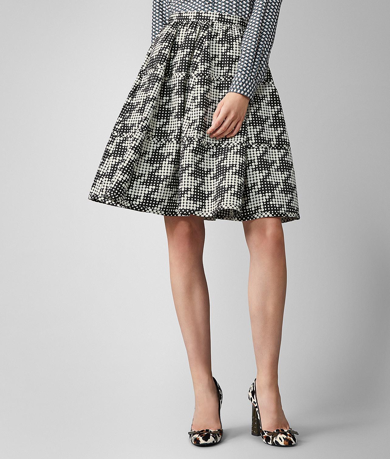 a89eb30f8 Lyst - Bottega Veneta Skirt In Silk in Black - Save 29%