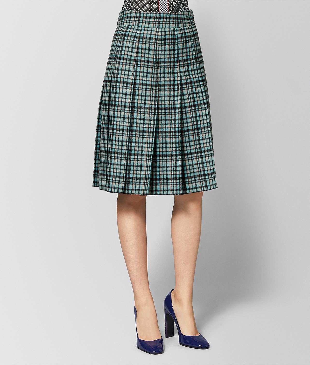 9cba147a95 Lyst - Bottega Veneta Aqua nero Wool Skirt