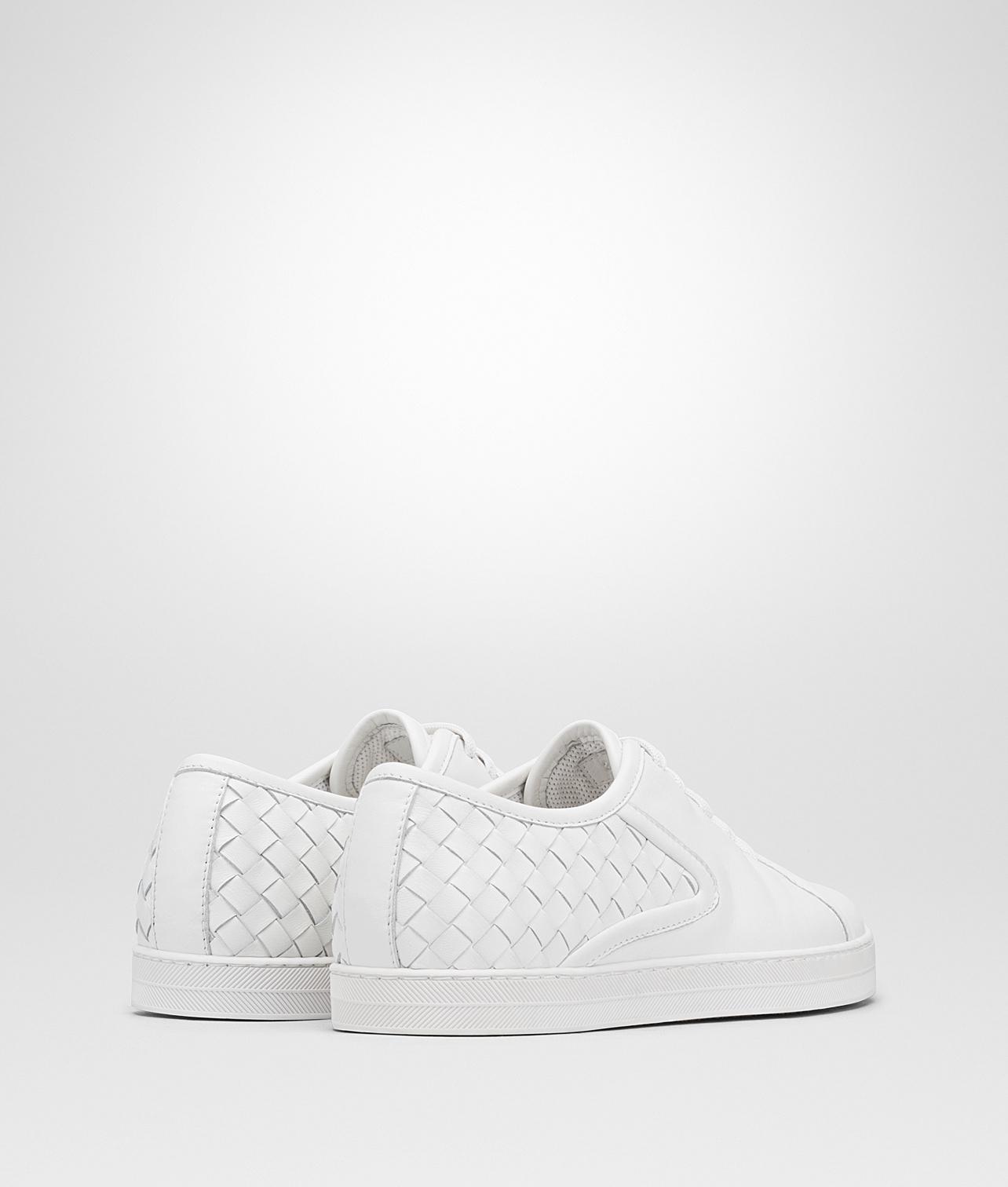 bianco Intrecciato nappa caramel sneaker - White Bottega Veneta SupAojq5