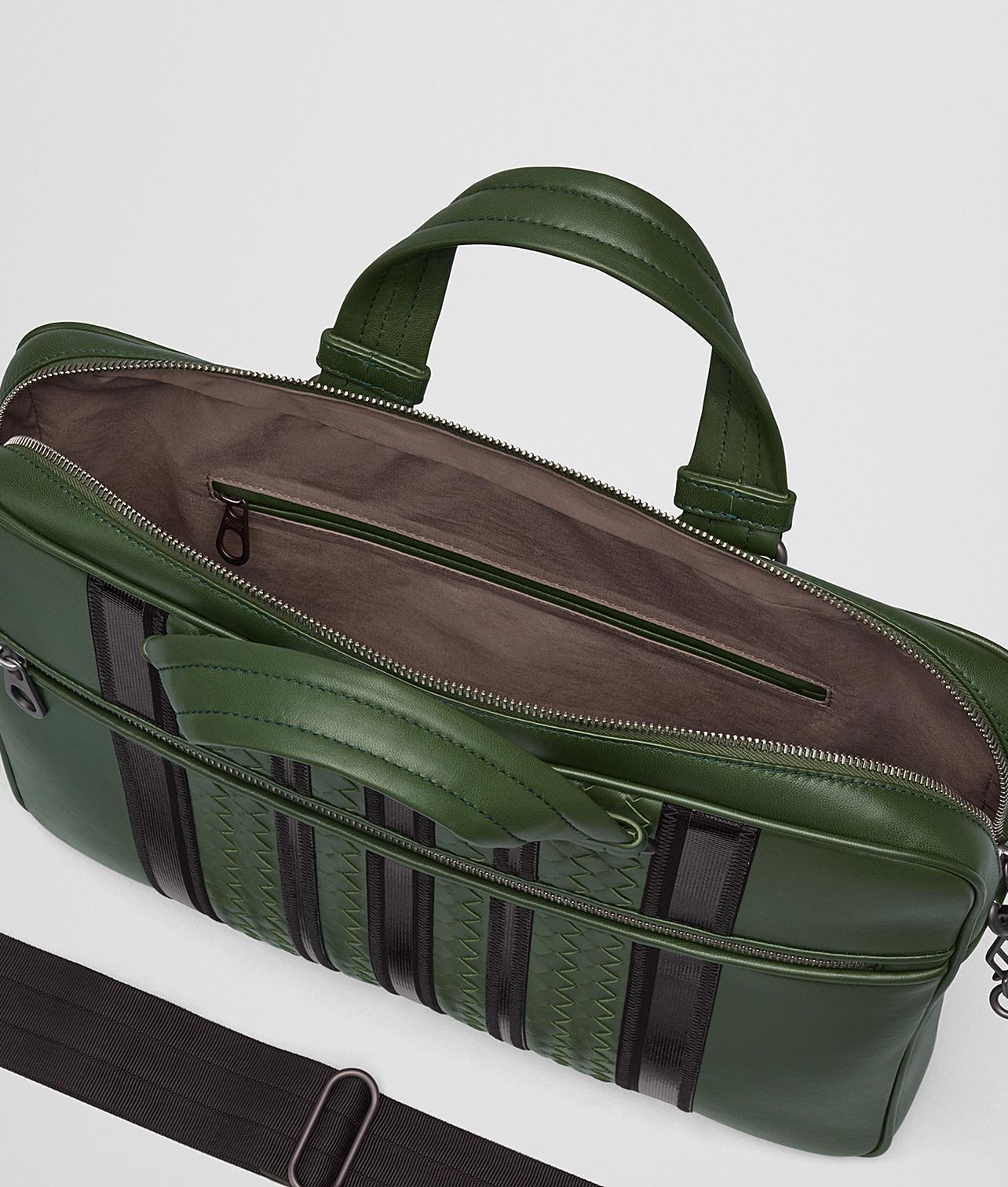Lyst - Bottega Veneta Forest nero Nappa Tech Stripe Briefcase in ... f80c24ea47