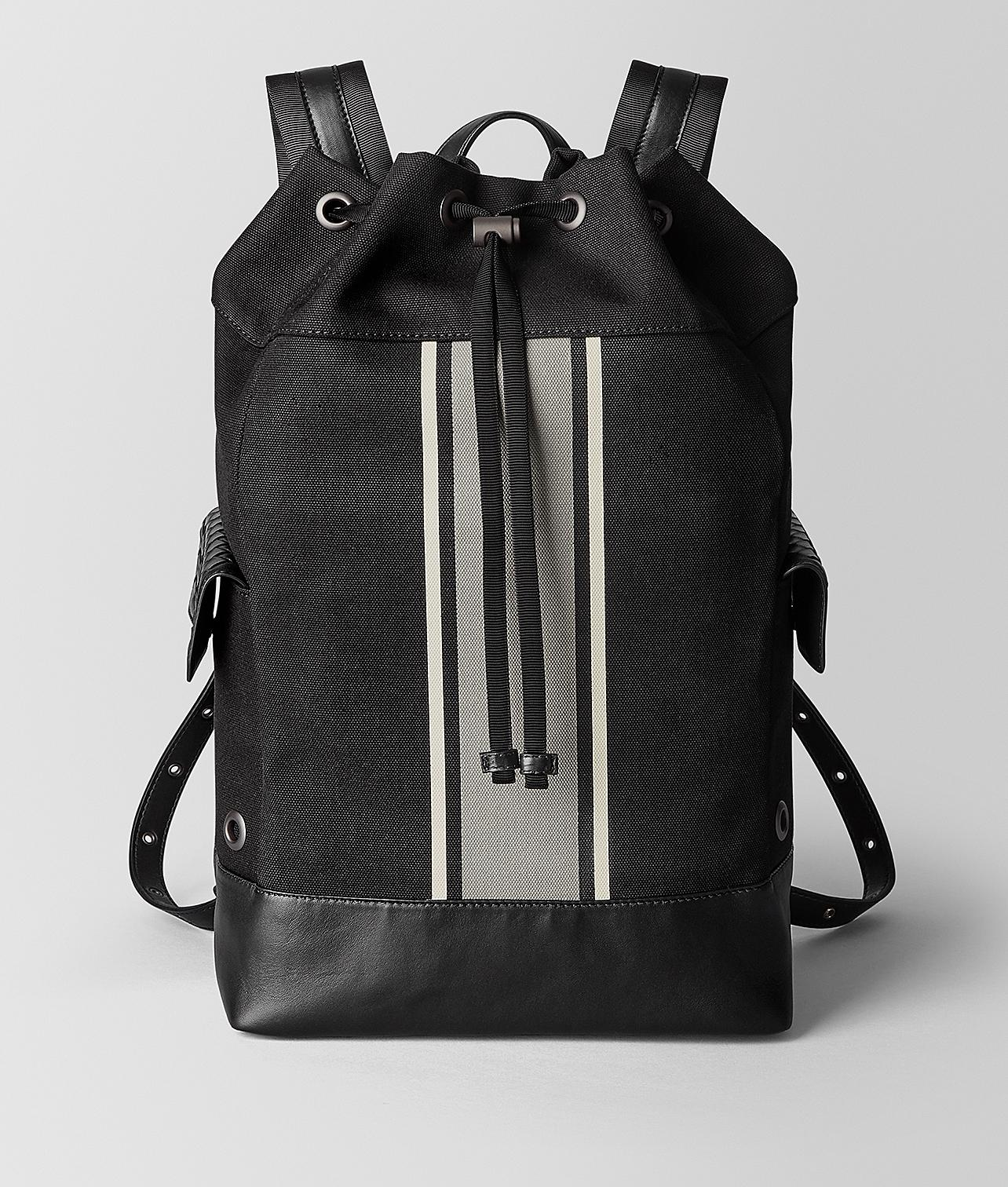 ebbc9efcda Bottega Veneta Nero cement Canvas Backpack in Black for Men - Lyst