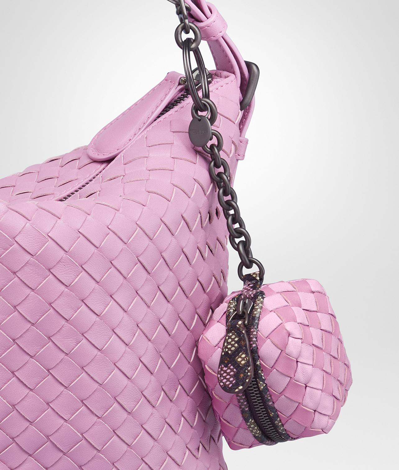 Bottega Veneta Multicolor Intrecciato Nappa Check Karung Key Ring Twilight dragee qgInq3