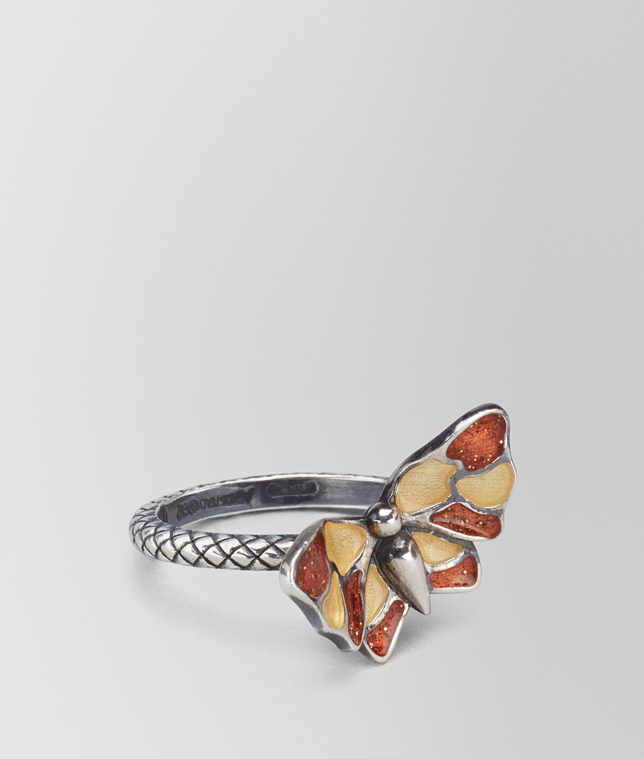Bottega Veneta Multicolor Antique Silver Butterfly Ring YGV4mSpBUR