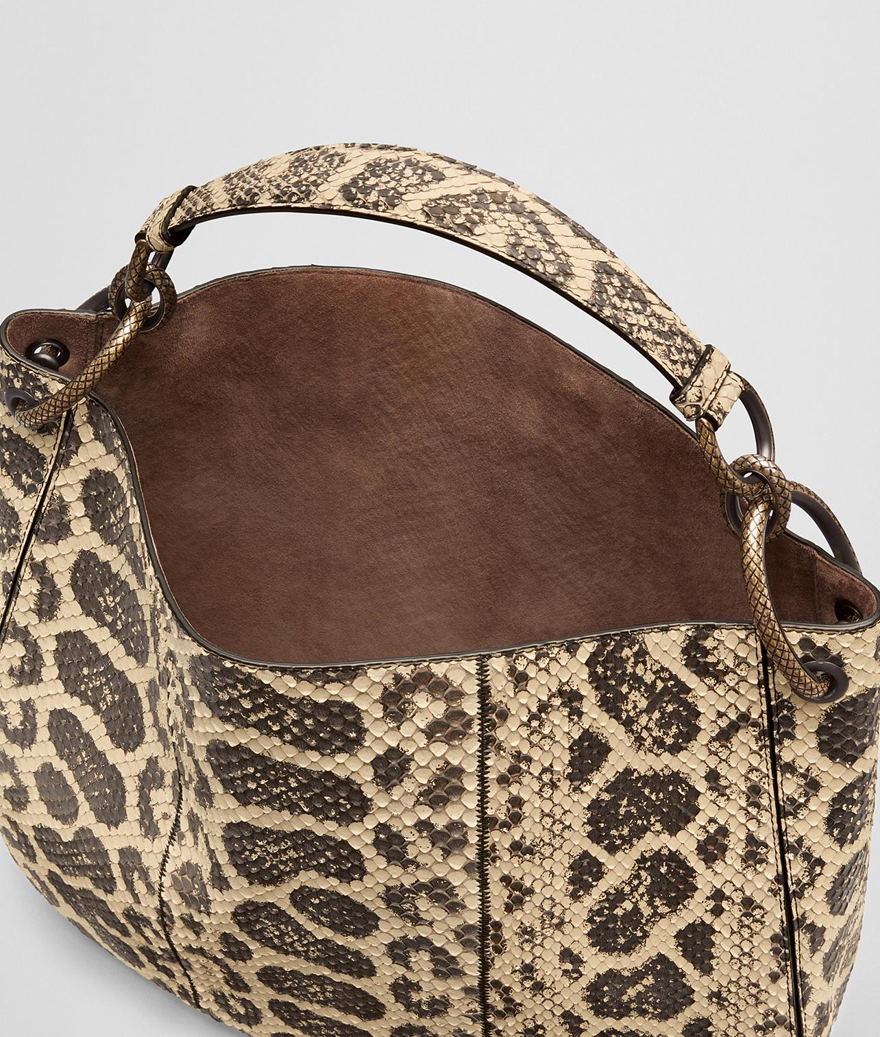432d20a02b3 Bottega Veneta Natural Anaconda Loop Bag - Lyst