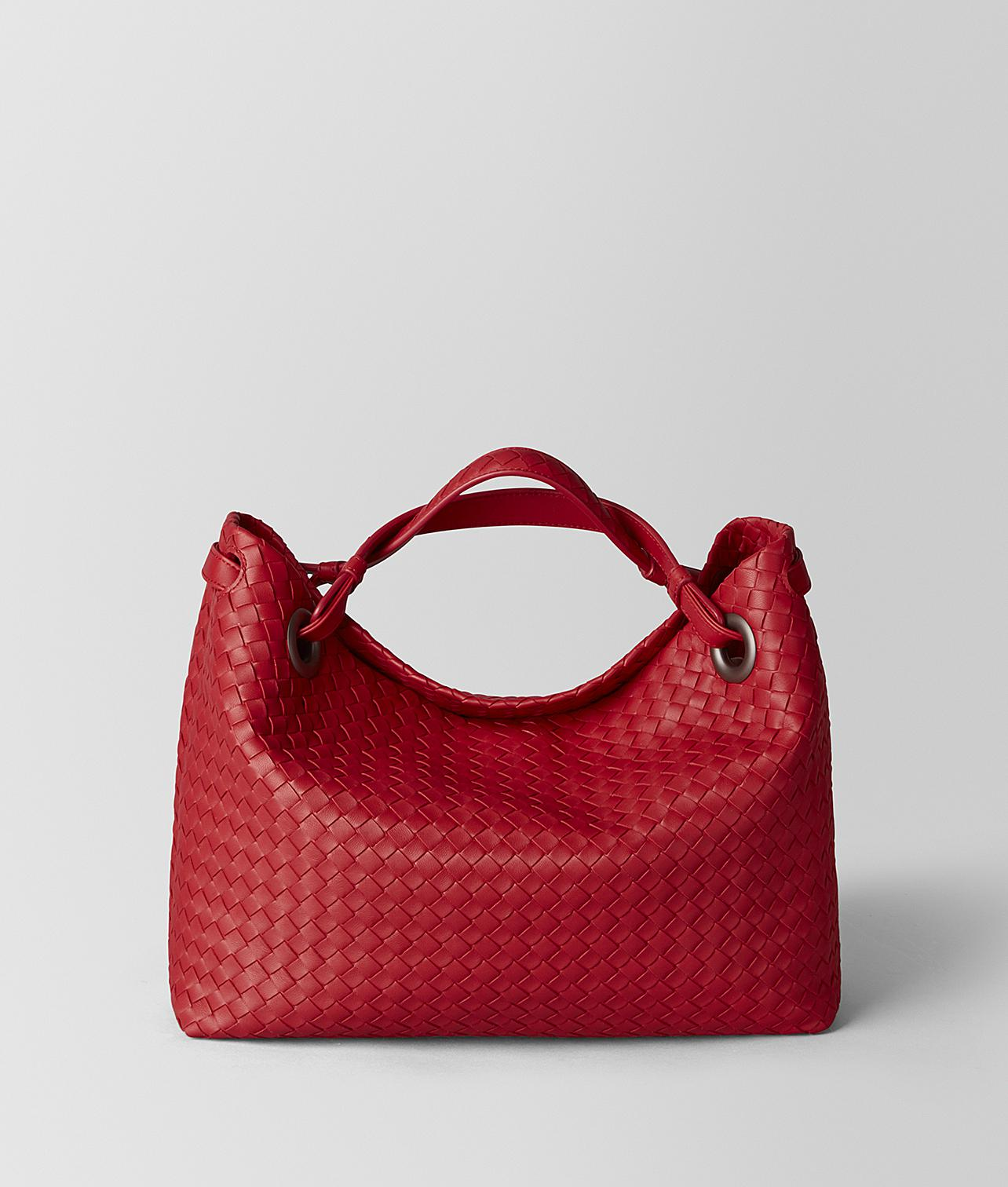 a389670d9a Lyst - Bottega Veneta Billfold In Nappa Bicolor in Red - Save 5%
