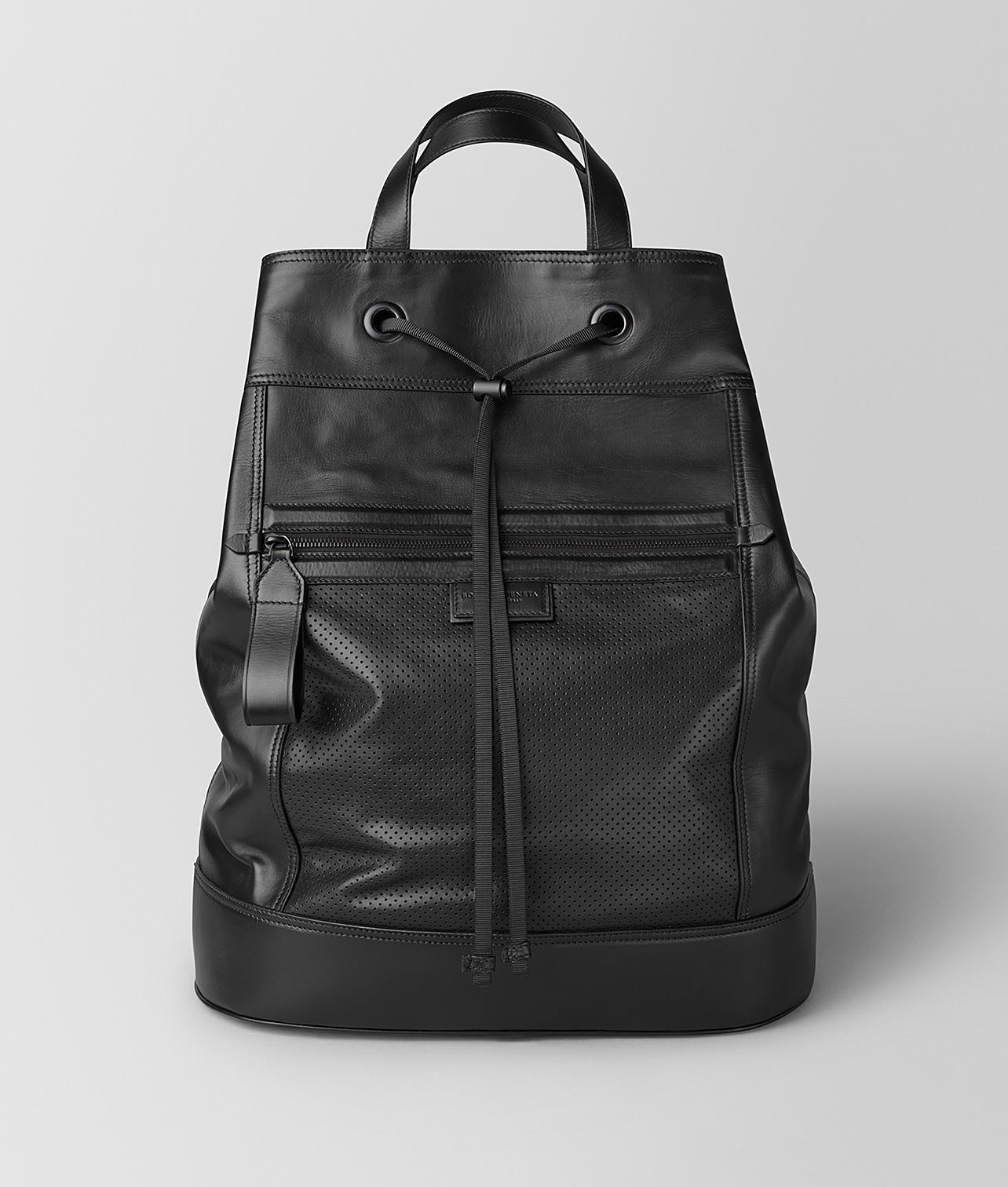 03b0b3650c Bottega Veneta Backpack In LEGGERO in Black for Men - Lyst