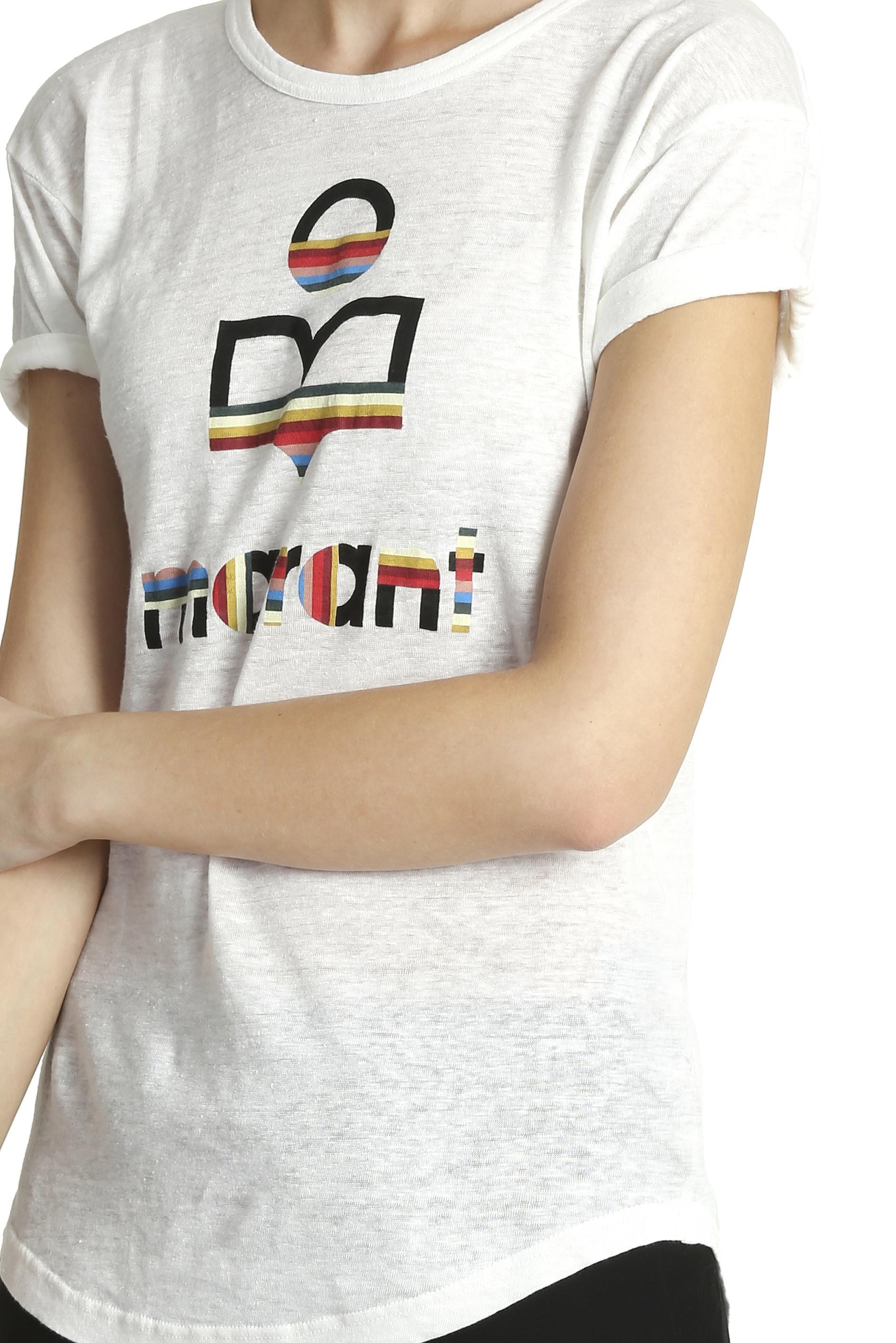 Lyst Toile Isabel Marant Kolda Marant Logo T Shirt In Black
