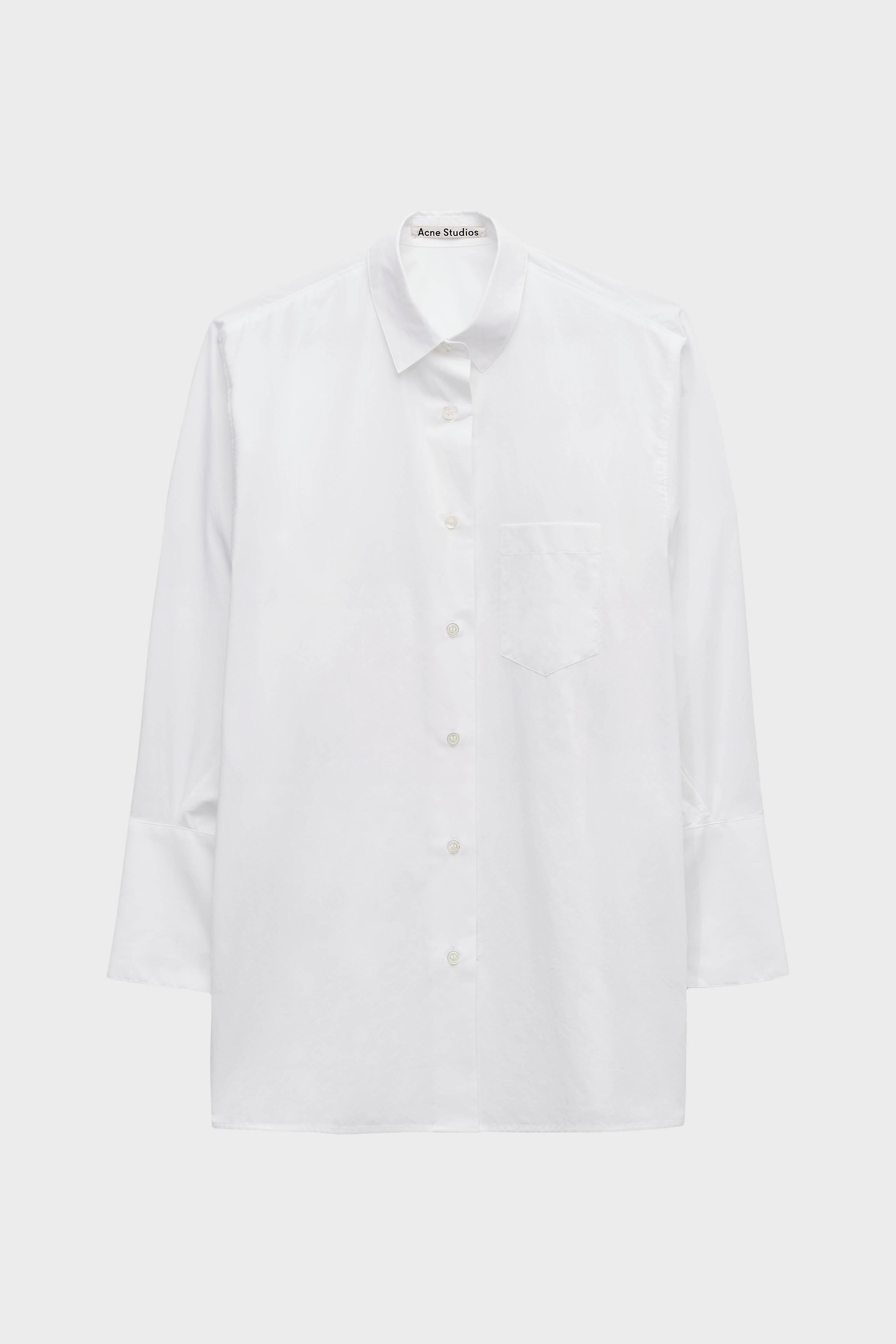 7356ade4eed Lyst - Acne Studios Bai Cotton Poplin Shirt in White